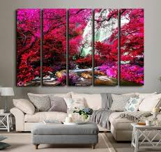canvas wall art waterfall canvas art