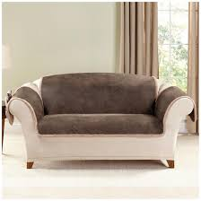 ... Cool Decorating Design Ideas In Living Room With Slipcover For Leather  Sofa : Terrific Brown Velvet ...