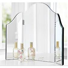 best choice products presents this brand new tri fold table mirror with led bulbs convenient for your beauty needs inspired by hollywood glamour
