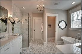 bathroom chandelier lighting ideas elegant light colors on the flooring also makes the master bathroom look