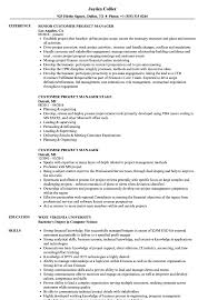 Crm Project Manager Resume Customer Project Manager Resume Samples Velvet Jobs 20