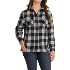 Stillwater Supply Co. Flannel Shirt Jacket (For Women) - Save 58% & Flannel Shirt Jacket - Quilted Lining (For Women) in White ... Adamdwight.com