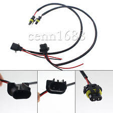 subaru brz headlights 2 pcs h13 9008 wire harness for ballast to stock socket for hid conversion kit fits subaru brz