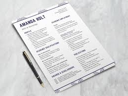 Free Resume Template For Phd Students By Steven Han Dribbble