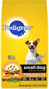 Pedigree Puppy Food Feeding Chart Pedigree Small Dog Complete Nutrition Roasted Chicken Rice Vegetable Flavor Small Breed Dry Dog Food 3 5 Lb Bag