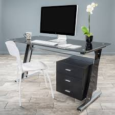 glass computer desk with drawers best 25 black glass computer desk ideas on pc setup