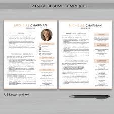 2 Page Resumes Impressive TEACHER RESUME Template With Photo For MS Word Educator Resume
