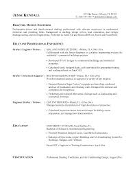 Drafting Resume Examples Simple Architectural Drafter Resume Sirenelouveteauco
