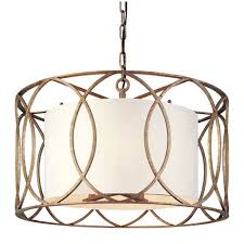 gold drum pendant lighting free