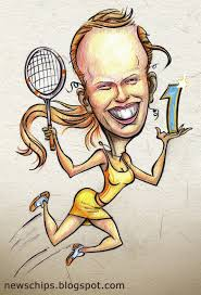 caricature of tennis player caroline wozniacki posted by news chips on