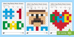 Words taken from the letters and sounds book. Father S Day Phase 5 Phonics Mosaic Worksheet Teacher Made