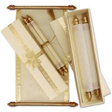 Scroll Wedding Invite Golden And White Scroll Wedding Invitation Card Rs 15 00 Piece