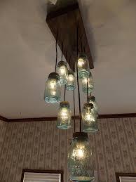 ball jar lighting. Lighting:Ball Jar Table Lamp Pendant Light Kit Mason Pottery Barn Chandelier Canning Lights Best Ball Lighting