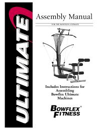 bowflex ultimate embly manual pdf