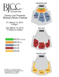 Seating Chart Disney Live Bjcc Disney Live Map