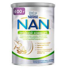 <b>Молочная смесь</b> от колик и запоров <b>NAN Тройной</b> комфорт от 0 ...