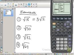 simplifying radicals using a ti 83 you
