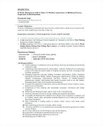 Welding Apprentice Sample Resume Unique Tradesman Resume Template Format For Welder Unique 48 Free Word