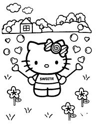 Kleurennu Lieve Kleurplaat Met Hello Kitty Kleurplaten