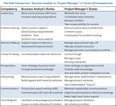 the role comparison of business analyst and project manager ba roles and responsibilities
