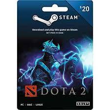amazon com valve dota 2 steam wallet card 20 video games