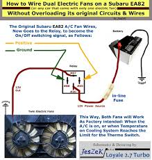 easy guide on five steps to twin electric fans swap engine by using the original electric fan s wiring as signal wires for the relay both fans will come on and off as factory intended