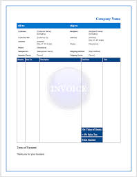 free invoice form free invoice form or sample microsoft word templates