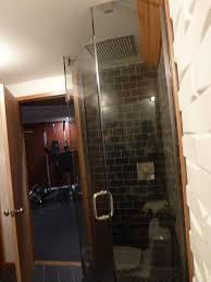 tinted shower door glass