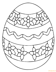 Simple Ukrainian Easter Egg Coloring Page Free Coloring Pages Online