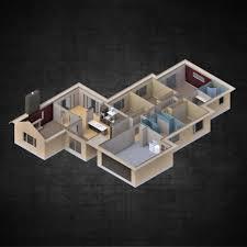 ... Modern Residential 4 Bedroom House Contemporary House 3d Model Obj 3ds  Fbx Stl Dae 3dm 5 ...