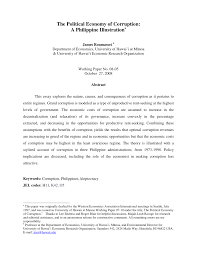 Federation of free farmers topic: Pdf The Political Economy Of Corruption A Philippine Illustrationa