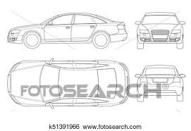 car outline front. Contemporary Car Sedan Car In Outline Business Sedan Vehicle Template Vector Isolated On  White View Front Rear Side Top All Elements Groups On Car Outline Front V