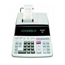 sharp calculator. sharp el-2607p printing calculator, 12 digit fluorescent display - calculator