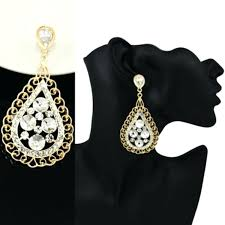 big crystal chandelier earrings picture design