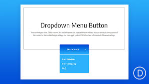 How To Create A Dropdown Menu Button Using Divis Fullwidth