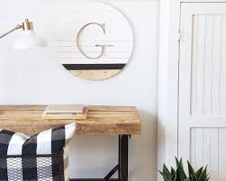"""20"""" Harper Custom Wood Round by Ava Berry Lane seen at Private Residence 