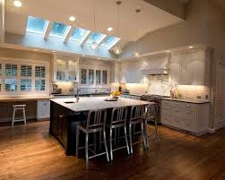 downlights for vaulted ceilings with cathedral ceiling kitchen lighting in white color