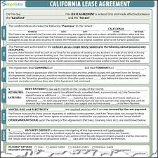 residential lease agreements california california residential lease