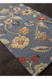 jaipur blue garden party rug