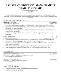 Assistant Property Manager Resume Ideas Of Sample For Format