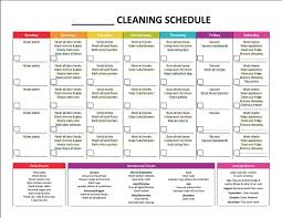 monthly house cleaning schedule template complete housekeeping printable set monthly cleaning schedule