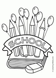School Building Coloring Page Classes Coloring Page For Kids ...