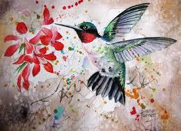 hummingbird garden wall art