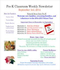 Classroom Newsletter Template 13 Free Word Pdf Documents