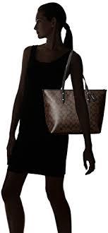 ... Black Signature Brown Zip Coach City Tote wSXqxF1