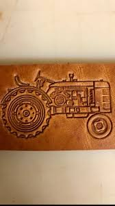 tractor stamp harness leather belt
