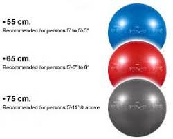 Exercise Ball Size Chart Yoga Ball Sizes