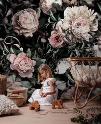 Dark Floral Wallpaper Nursery ...