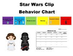 Star Wars Behavior Chart Behavior Clip Chart Star Wars Teach Behavior Clip