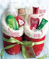 Good idea for Christmas (hint hint! Slippers (I LOVE THESE!) filled with  Bath and Body Works Christmas items? :D Teacher gift?